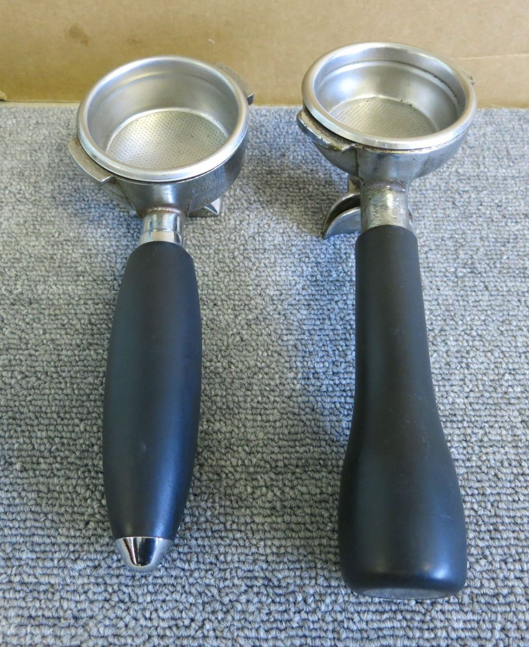 Espresso Filter Holder ~ Coffee machine filter holder the table